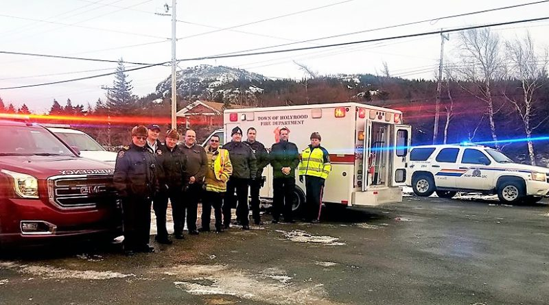 Holyrood police, firefighters quick to answer Food Bank's call